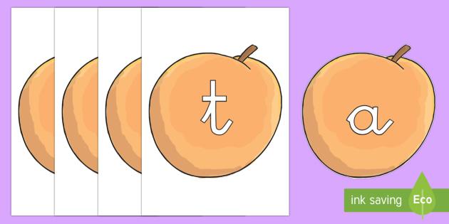 Tarjetas de fonemas: Melocotones - lecto, leer, primeros sonidos