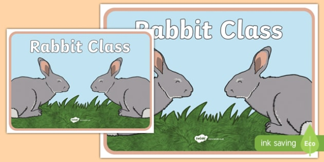 Rabbit Class Display Poster - rabbit, class, display poster, display, poster, rabbit class
