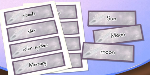 Year 5 Earth and Space Scientific Vocabulary Cards - australia