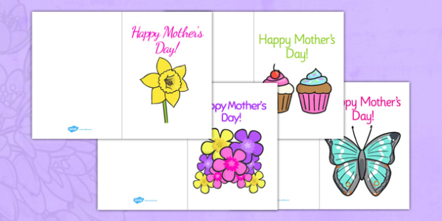 Mother's Day Card Template - Design, Mother's day card, Mother's day cards, Mother's day activity, Mother's day resource, card, card template