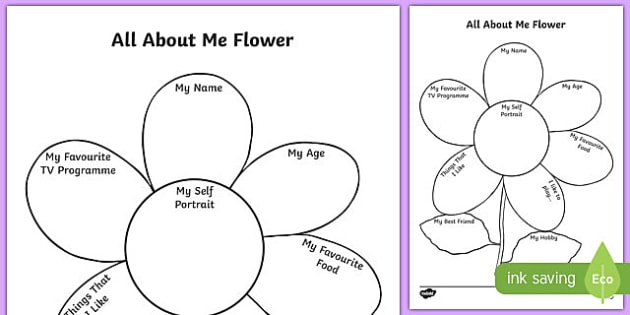 About Me Flower Writing Template