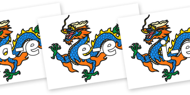 Split Digraphs on Chinese Dragons - Modifying E, letters, modify, Phase 5, Phase five, alternative spellings for phonemes, DfES letters and Sounds