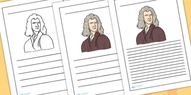 Isaac Newton Writing Frames - isaac newton, writing frames, writing aids, writing guide, line guide, writing, literacy, writing template, template, frames