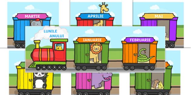 Lunile anului pe vagoanele trenului - Planșe