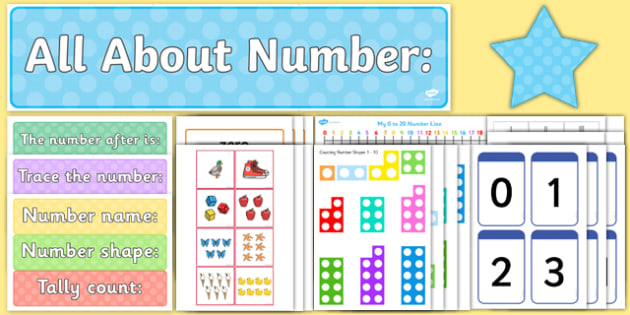 All About Numbers Display Pack - all about numbers, display pack, display, pack, numbers