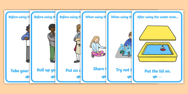 Water Area Rules Display Posters - Good manners, good behaviour, class management, behaviour management, SEN, polite, Water Area Sign, Classroom Area Signs, Classroom Areas, Poster, Display, Areas, Water Area