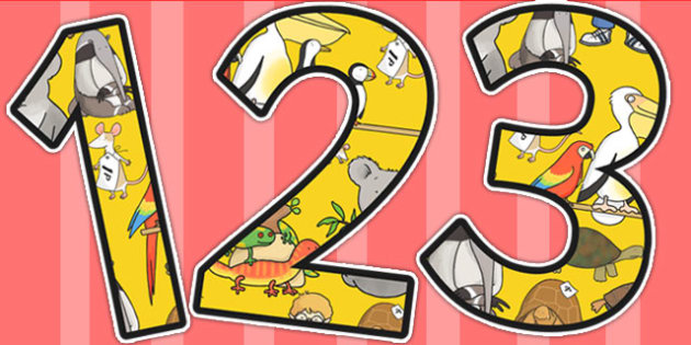 Themed Display Numbers to Support Teaching on The Great Pet Sale - pets, numbers, sale