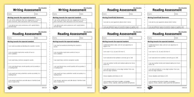 KS1 Exemplifications - I Can Statements Checklist Pack