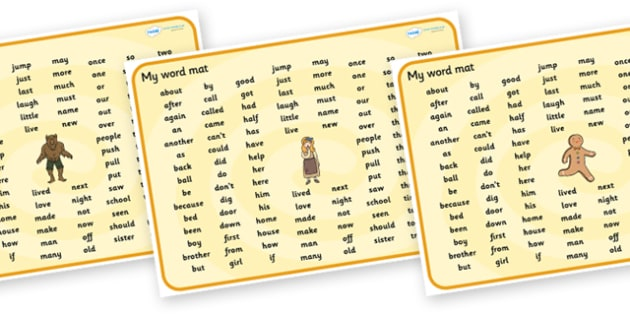 Traditional Tales Themed KS1 Word Mat - traditional tales, word mat, ks1 word mat, key stage 1, themed word mat, word, mat, letters, sounds, KS1