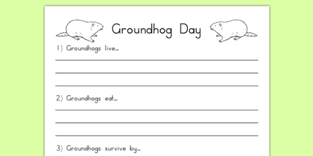 Groundhog Facts Worksheet - groundhog day, groundhog, tradition, celebration, facts