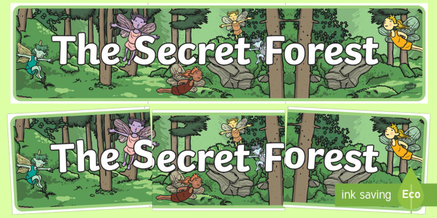 The Secret Forest Display Banner - secret forest, display banner, display, banner, secret, forest