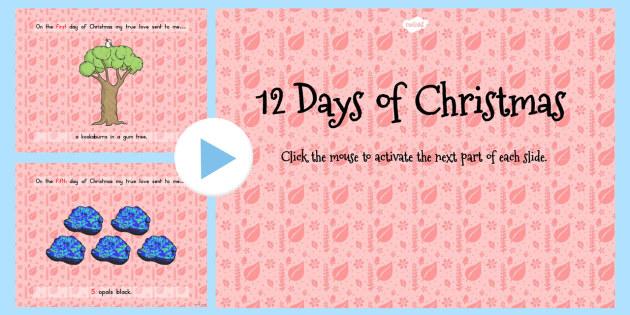 Australian 12 Days of Christmas PowerPoint - australia, christmas