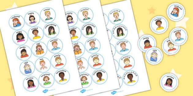 Emotion Discs - feelings, emotions, visual, aid, disc, label