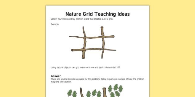 Nature Grid Maths Mastery Teaching Ideas