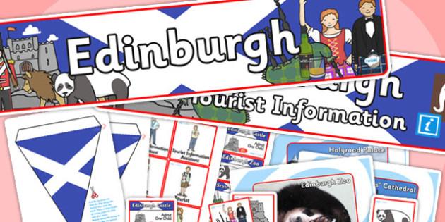 Edinburgh Tourist Information Office Role Play Pack-edinburgh, tourist information, tourist, role play, role play pack, edinburgh pack, tourist