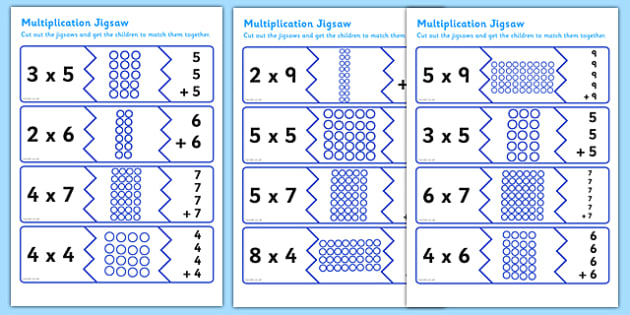 Multiplication Matching Puzzle Game - multiplication, matching, puzzle, game, matching game, multiplication game, puzzle game, numeracy, maths, times table