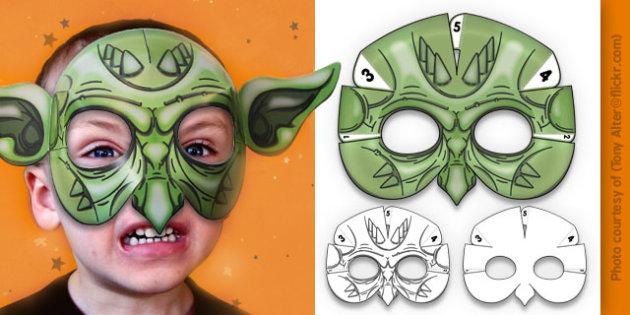 3D Halloween Goblin Monster Mask - 3d, halloween, goblin, monster, mask