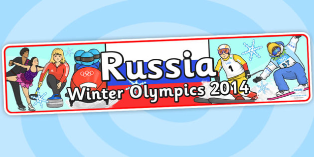 Russian Winter Olympics Display Banner - russian winter olympics, winter olympics, olympics display, display banner, olympics display banner