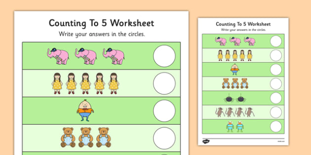 Nursery Rhyme Themed Counting to 5 Worksheet - nursery rhyme, themed, counting, 5, worksheet