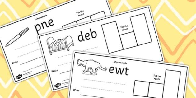 CVC Spelling Cards E - CVC, spelling, cards, E, word cards