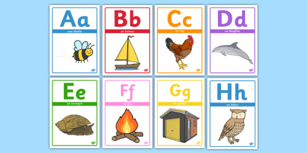 Alphabet Picture Posters French - french, alphabet, picture, posters, display, letters