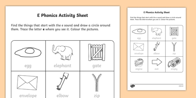 e Phonics Activity Sheet-Irish, worksheet