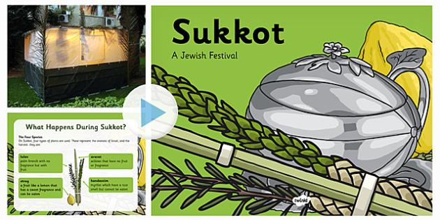 All About Sukkot PowerPoint - judaism, jewish, information