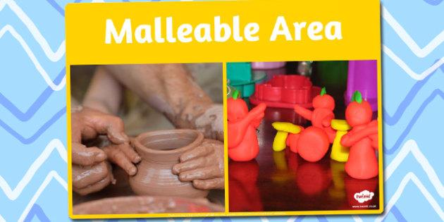 Malleable Area Photo Sign - malleable, area, photo, sign, display
