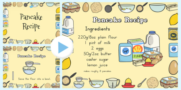 Pancake Recipe PowerPoint - australia, pancake recipe, powerpoint