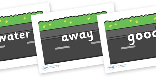 Next 200 Common Words on Roads (Plain) - Next 200 Common Words on  - DfES Letters and Sounds, Letters and Sounds, Letters and sounds words, Common words, 200 common words