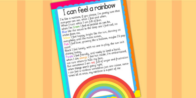I Can Feel a Rainbow Display Poster - weather, colours, display
