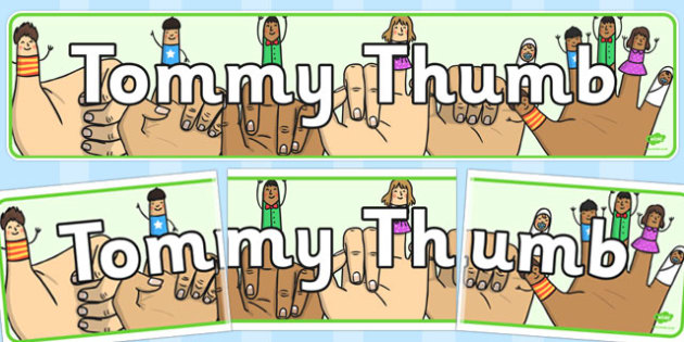 Tommy Thumb Display Banner - tommy thumb, display banner, banner