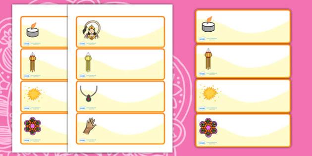 Diwali Drawer Peg Name Labels - diwali, drawer peg name labels, labels, name labels, draw labels, peg labels, name tags, themed labels, draw and peg labels