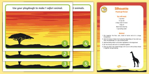 Safari Sunset Playdough Recipe and Mat Pack