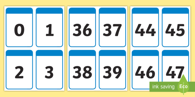 Number Digit Cards (0-50) - Numeracy, digit card, math, number recognition, counting
