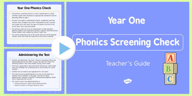 Teacher's Guide to the Phonics Screening Check - teachers, guide, phonic screening check