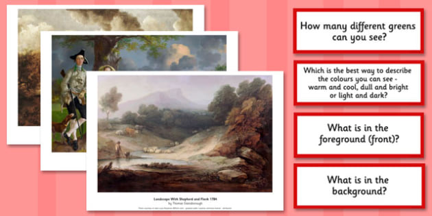 Thomas Gainsborough Photopack and Prompt Questions - photopack