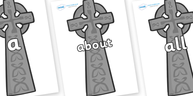 100 High Frequency Words on Celtic Cross - High frequency words, hfw, DfES Letters and Sounds, Letters and Sounds, display words