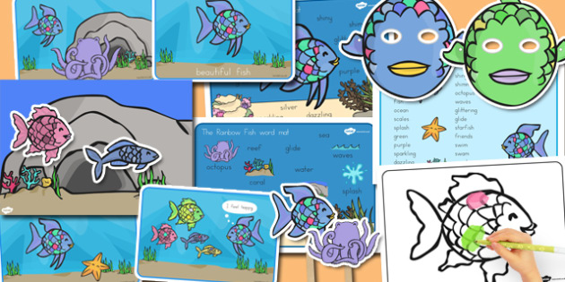 Story Sack to Support Teaching on The Rainbow Fish - australia, rainbow fish, story sack
