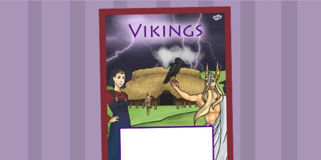 Vikings Book Cover - viking, vikings, folder cover, history, ks2