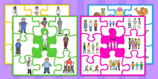 Match The Pronoun Jigsaw - pronouns, nouns, SEN, SEN game, puzzle