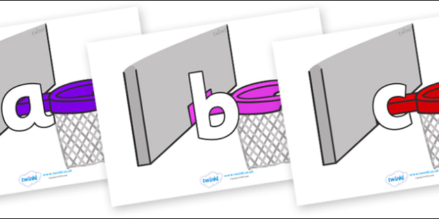 Phoneme Set on Basketball Hoops - Phoneme set, phonemes, phoneme, Letters and Sounds, DfES, display, Phase 1, Phase 2, Phase 3, Phase 5, Foundation, Literacy