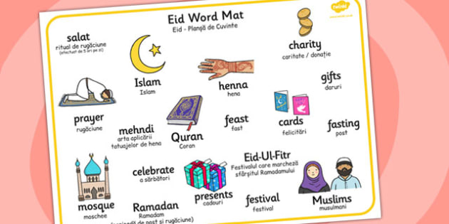 Eid Word Mat Romanian Translation - romanian, eid, word mat, religion, word, mat