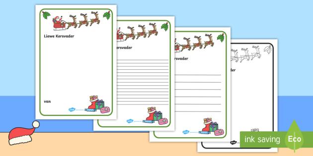 Brief aan Kersvader - Brief aan Kersvader skryfraam, skryfraam, kersvader, kersfees, skryfwerk, skryf. vakansie, briewe