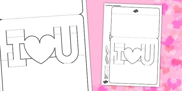 3D I Love You Pop Up Valentine Card - 3d, I love you, valentine, valentines day, card, pop up