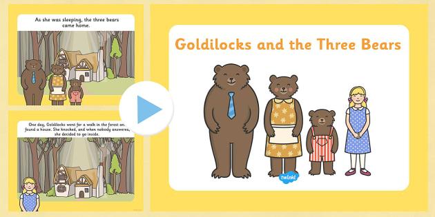 Goldilocks and the Three Bears Story PowerPoint - goldilocks and the three bears, goldilocks, goldilocks powerpoint, goldilocks story, story sequencing