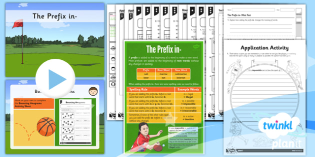 PlanIt Y3 SPaG Lesson Pack: The Prefix -in - GPS, grammar, spelling, punctuation, root word