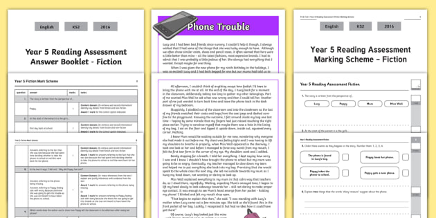 Year 5 Reading Assessment: Fiction Term 1 - year 5, reading, assessment, fiction, english, ks2