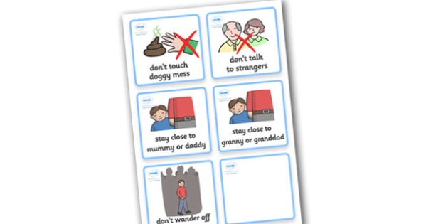 SEN Communication Cards Hazards (Boy) - communication cards, hazards, education, home school, child development, children activities, free, kids, special needs, special education
