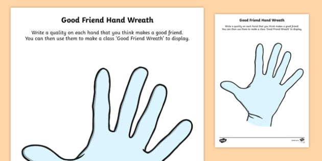 Anti Bullying Week Good Friend Wreath Activity